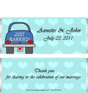 Just Married Candy Bar Wrappers Sample