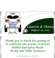 We Just Married Candy Bar Wrappers Sample