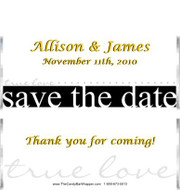 Save the Date Candy Bar Wrappers Sample