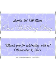 Our Wedding Day Candy Bar Wrappers Sample