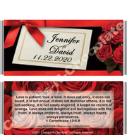 Elegant Roses Candy Bar Wrappers