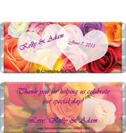Bridal Flowers Candy Wrappers Sample
