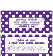 Purple Polka Dot Candy Wrappers Sample