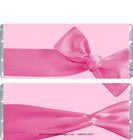 Pink Bow Candy Bar Wrappers