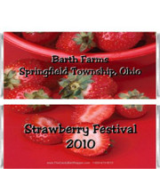 Strawberry Candy Bar Wrappers Sample