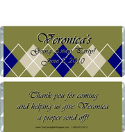 Dark Plaid Candy Bar Wrappers Sample