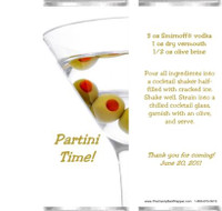 Martini Candy Bar Wrappers