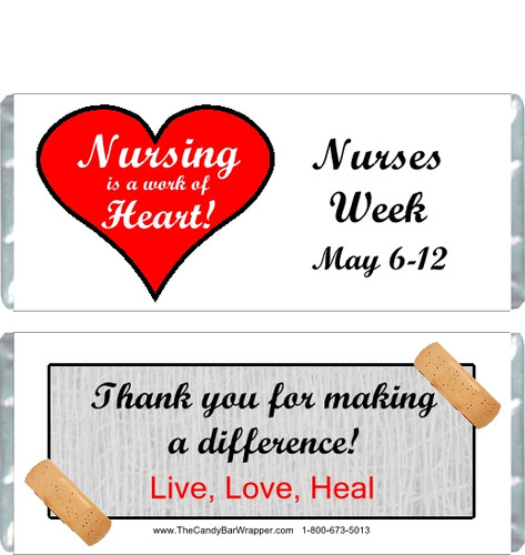 Nurses Week Candy Wrappers