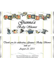 Baby Shower 1 Candy Wrapper Sample