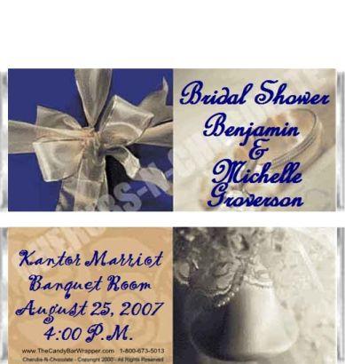 Bridal Shower 2 Candy Wrapper Sample
