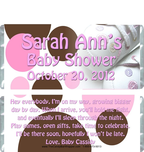 Baby Shoes Candy Bar Wrappers Sample