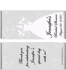 Bridal Dress Candy Bar Wrappers Sample