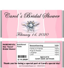 Bridal Shower Candy Wrappers with Nutritional Label