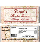Bed of Roses Bridal Shower Candy Wrappers with Nutritional Label