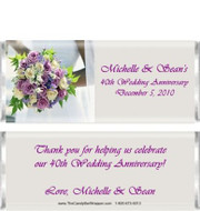Purple Rose Candy Bar Wrappers Sample
