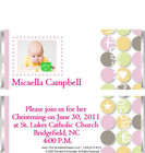 Baptism Candy Wrappers Sample