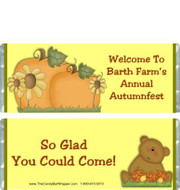 Autumn Bear Candy Bar Wrappers