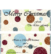 Christmas Polka Dot Candy Wrappers