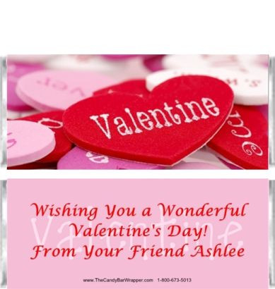 Valentine Candy Bar Wrappers Sample