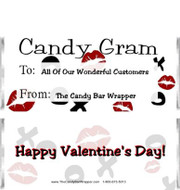 Candy Gram Candy Bar Wrappers Sample