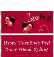 Luv Bug Candy Bar Wrapper