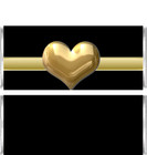 Gold Heart Candy Bar Wrappers