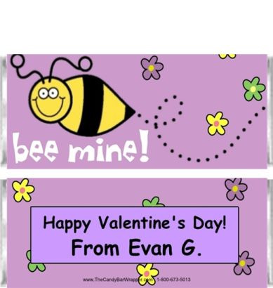 Bee Mine Candy Wrappers Sample