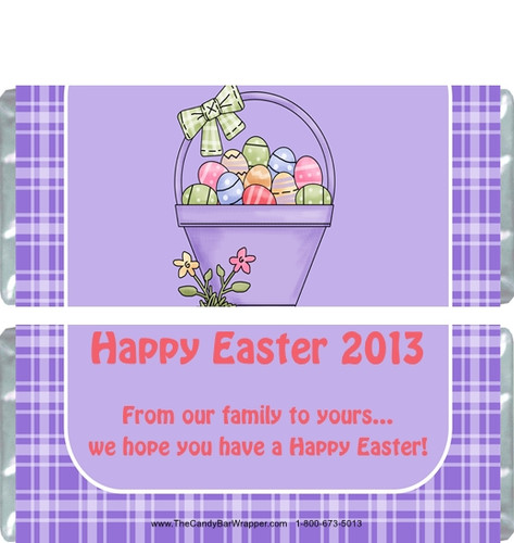 Easter Basket Candy Wrapper Sample