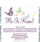 He is Risen Candy Wrappers Sample