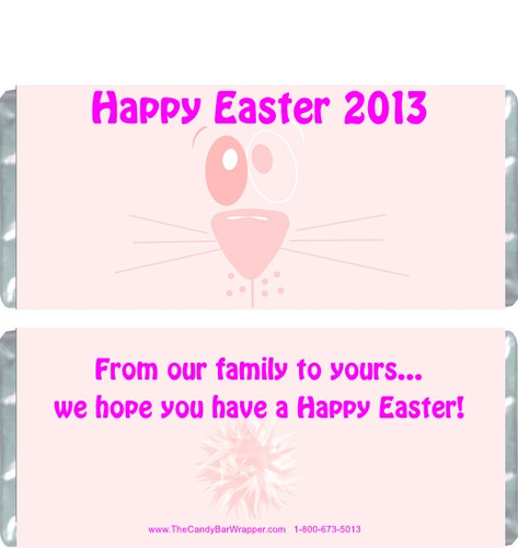 Pink Easter Bunny Candy Wrapper
