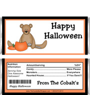 Halloween Teddy Bear Candy Wrappers