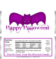 Halloween Bat 2 Candy Wrappers