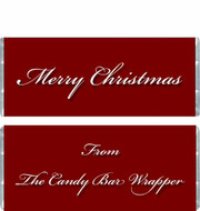 Christmas Words Candy Wrappers