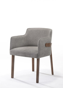 Modrest Jordan Modern Grey & Walnut Dining Chair