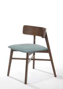 Modrest Travis Modern Blue & Walnut Dining Chair