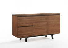 Modrest Quinn Modern Walnut & Black Buffet