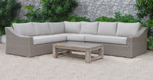 Pacifica Outdoor Beige Sectional Sofa Set