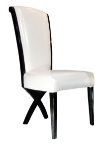 A&X Xena - Transitional X-Leg Dining Side Chair