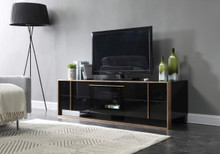 Nova Domus Cartier Modern Black & Brushed Bronze TV Stand