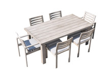 Dunes Outdoor Grey Dining Table Set
