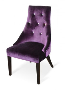 A&X Charlotte - Purple Velour Dining Chair