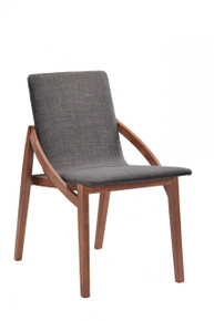 Jett - Mid-Century Grey Fabric Dining Chair