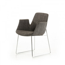 Modrest Altair Modern Grey Fabric DIning Chair