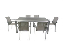 Diego Outdoor Grey Dining Table Set