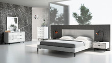 Nova Domus Valencia Contemporary White Bedroom Set