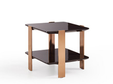 Modrest Leroy Modern Ebony & Rosegold End Table