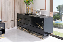 Modrest Legend Modern Black & Gold Dresser