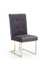 Modrest Legend Modern Grey Fabric & Gold Dining Chair