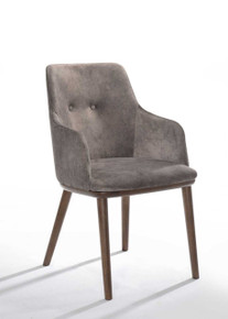 Modrest Theresa Modern Grey & Walnut Dining Chair