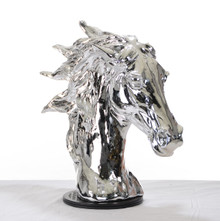 Modrest SZ0002 - Modern Silver Horse Head Sculpture